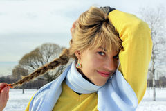Portrait of young woman outdoors Stock Photography