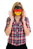 Portrait of young woman with painted face Royalty Free Stock Photography