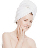 Portrait of young woman with perfect skin Royalty Free Stock Photography