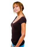 Portrait of young woman posing Royalty Free Stock Photos