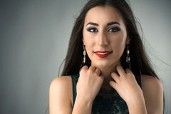 Portrait of a young woman with professional make up Royalty Free Stock Photography