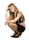 Portrait of a young woman sad expression Stock Photography