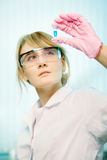 Woman scientist in laboratory Stock Photos