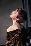 Portrait of young woman with short hair Royalty Free Stock Image