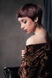 Portrait of young woman with short hair Royalty Free Stock Photos