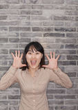 Portrait of Young Woman Shouting Royalty Free Stock Photo