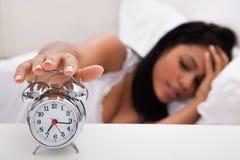Portrait of young woman sleeping Stock Photo