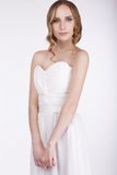 Portrait of Young Woman in Sleeveless Dress Royalty Free Stock Photo