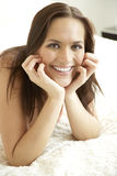 Portrait of a young woman, smiling Royalty Free Stock Image