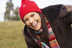 Portrait Of Young Woman Smiling Royalty Free Stock Photo