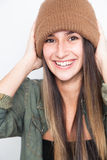 Portrait of a young woman smiling Royalty Free Stock Photos