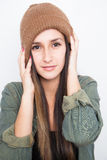 Portrait of a young woman smiling Stock Photography
