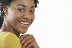 Portrait Of Young Woman Smiling Stock Photos