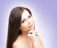 Portrait of young woman with smooth skin Royalty Free Stock Photo