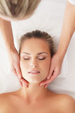 Portrait of a young woman on a spa procedure Stock Image