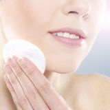 Portrait of a young woman on a spa procedure Royalty Free Stock Image