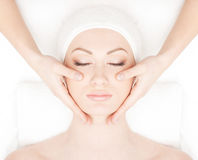 Portrait of a young woman on a spa procedure Stock Photography