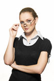 Portrait of young woman with spectacles Stock Photography