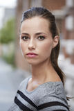 Portrait of young woman standing outdoors Royalty Free Stock Photography