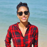 Portrait of young woman in sunglases Stock Image