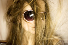 Portrait of the young woman in sunglasses Royalty Free Stock Photo