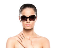 Portrait of a young woman in sunglasses Stock Photos
