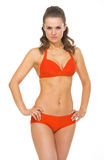 Portrait of young woman in swimsuit posing Royalty Free Stock Photo