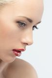 Portrait of young woman with vogue shining spa Royalty Free Stock Photo