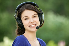 Portrait of young woman wearing Royalty Free Stock Image