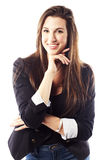 Portrait of young woman wearing blazer Stock Photo