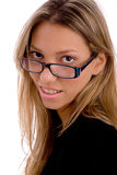 Portrait of young woman wearing eyewear Royalty Free Stock Images