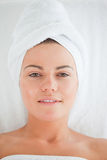 Portrait of a young woman wearing a towel Royalty Free Stock Photo