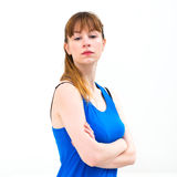 Portrait of young woman Stock Photos