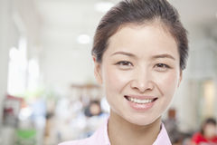Portrait of Young Woman, White Collar Worker, Close-Up Royalty Free Stock Photos