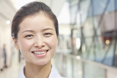 Portrait of Young Woman, White Collar Worker, Close up Royalty Free Stock Photography