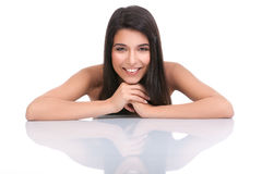 Portrait of a young woman with a wide smile Royalty Free Stock Photography
