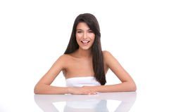 Portrait of a young woman with a wide smile Royalty Free Stock Photo