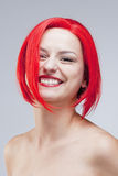 Portrait of a Young Woman in Wig Royalty Free Stock Photo