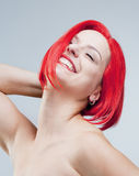 Portrait of a Young Woman in Wig Royalty Free Stock Photography