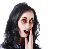 Woman in horror makeup Royalty Free Stock Images