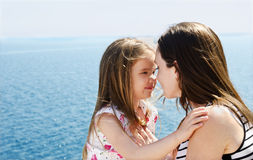 Portrait of young women with her daughter Royalty Free Stock Photography
