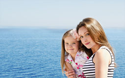 Portrait of young women with little girl Royalty Free Stock Images