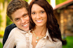 Portrait young women and men Royalty Free Stock Photo