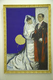 Portrait of Yves Klein and his Bride, the Museum of Modern and Contemporary Art, Nice, France Royalty Free Stock Images