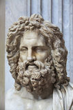 Portrait of Zeus. The ancient marble portrait bust of Zeus Otricoli Royalty Free Stock Photos
