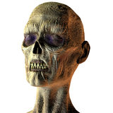 Portrait of a Zombie. 3D rendering of a zombie head with closed eyes vector illustration