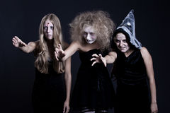 Portrait of zombie, ghost and witch Royalty Free Stock Photo