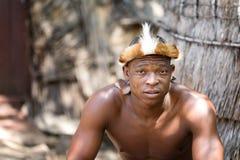 Portrait of a Zulu Warrior Stock Photo