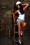 Portrait zum reizvollen Mädchen Stockfotografie