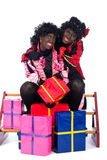 Portrait of Zwarte Piet with presents Royalty Free Stock Image